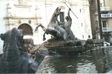 Caltanissetta - Fontana di piazza Garibaldi -  - Dall'archivio di Sicilia nel Mondo
