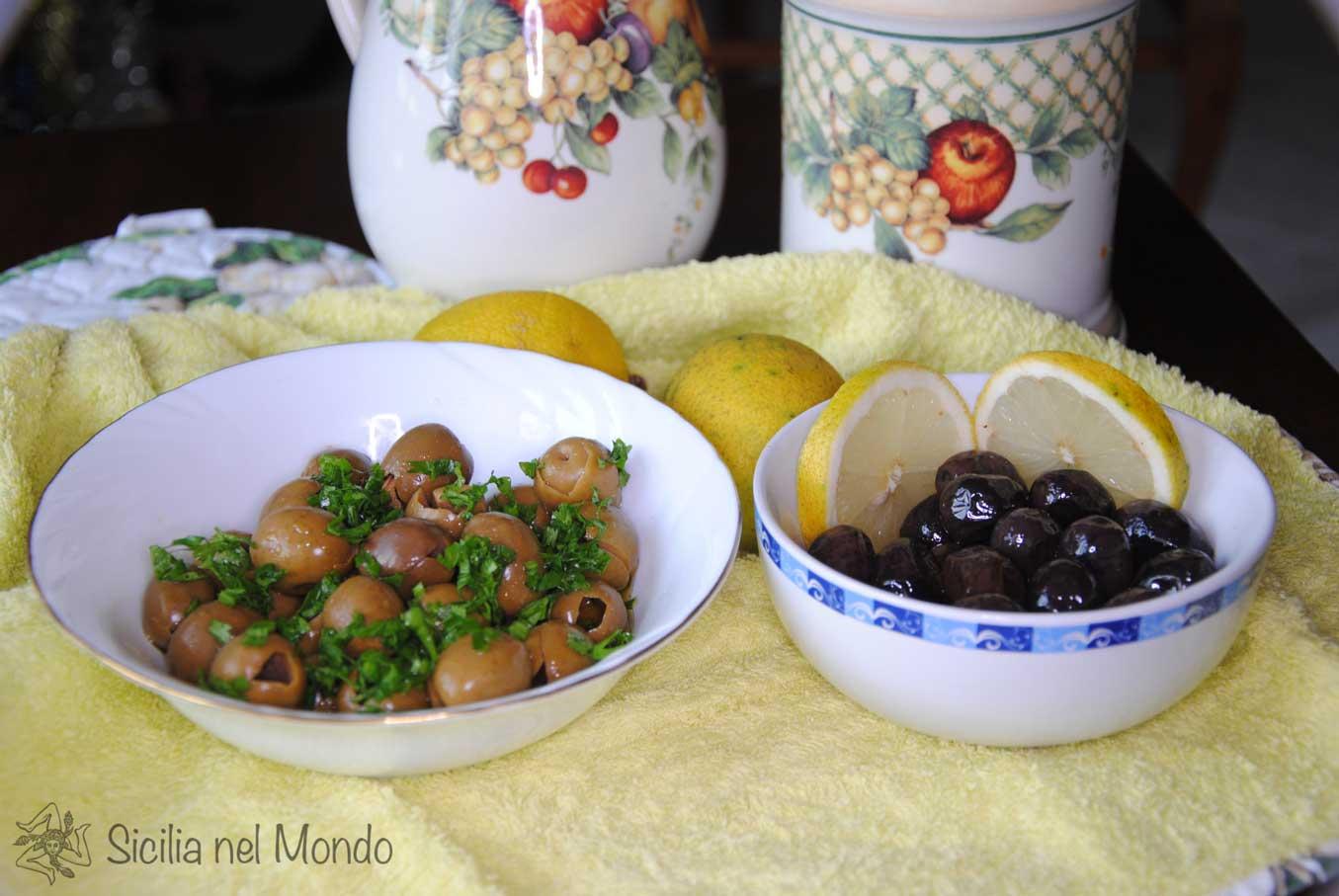 Antipasto con olive