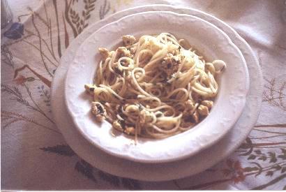 Spaghetti con uova di pesce San Pietro